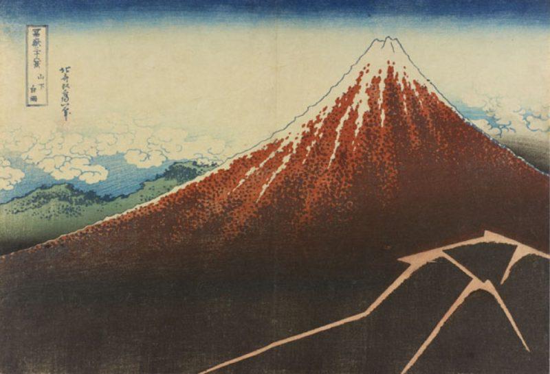 Vue Mont Fuji - Hokusai - Visiter Tokyo