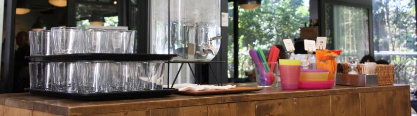 A table à Tokyo - Photo prise au Ryogoku Terrace