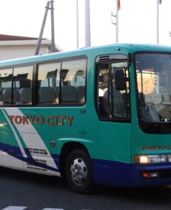 Un exemple de bus qui rejoint le Lycée Français International de Tokyo le matin et le soir, expat à Tokyo