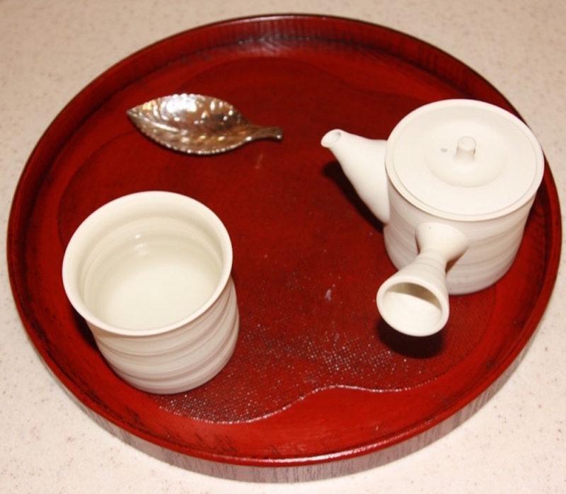 Etape 1 de la préparation du thé vert