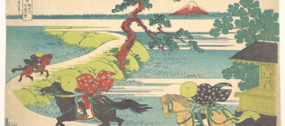 Hokusai, Sekiya Village on the Sumidagawa Sekiya no sato, from the series Thirty-six Views of Mount Fuji © Metroppolitan Art Museum