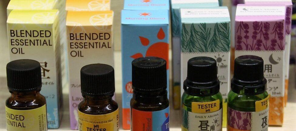 Des huiles essentielles chez Loft à Tokyo