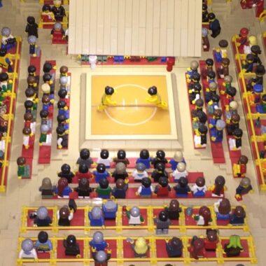 Stade de Sumo - LEGOLAND® à Odaiba, vivre a tokyo, visiter tokyo, odaiba, tokyo un jour de pluie
