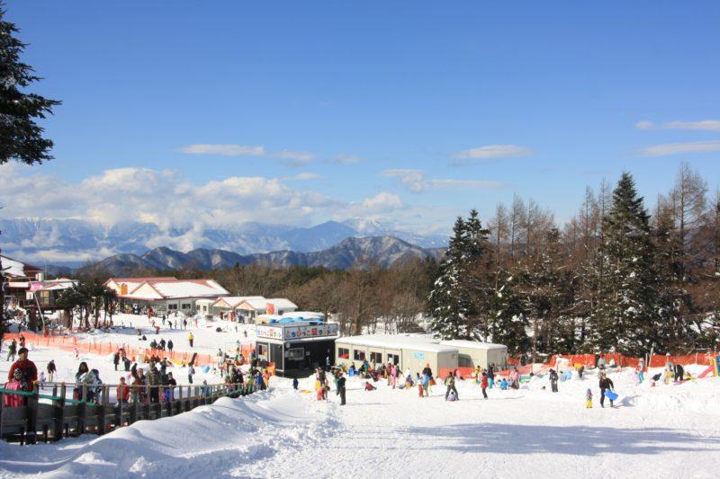 Vue des Alpes Japonaises depuis la station Fujiten