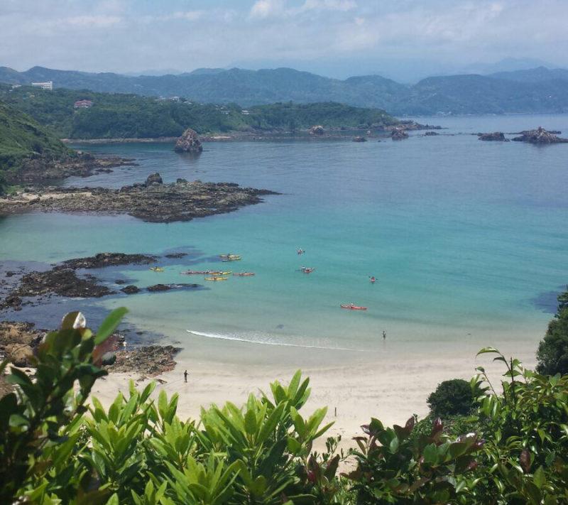 La plage de Kujuppama non loin de Shimoda
