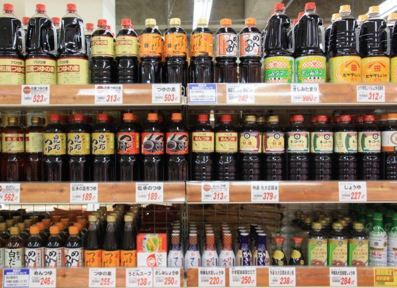 sauce soja, supermarché japonais, cuisine japonaise, vivre a tokyo, français a tokyo, expatriation tokyo