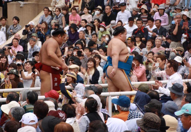 Sumo, tournoi de sumo Yasukuni Jinja, Tokyo, visiter tokyo, cuture japonaise, vivre a tokyo, expatriation tokyo, sumo japon