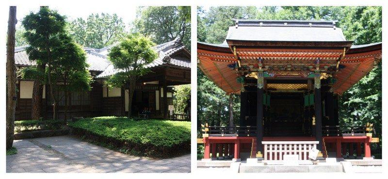 Monuments de la partie centrale du Parc Edo Tokyo en plein air