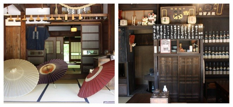 ntérieur de magasins dans la partie Est du musée architectural Edo Tokyo en plein air