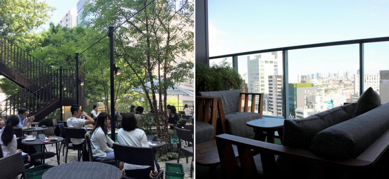 347 café et The Theater Table, deux terrasses, deux ambiances, Shibuya, Tokyo © Vivre à Tokyo