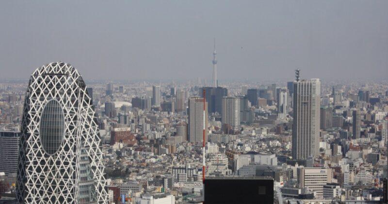 Tokyo, vue du ciel, visiter tokyo avec un petit budget
