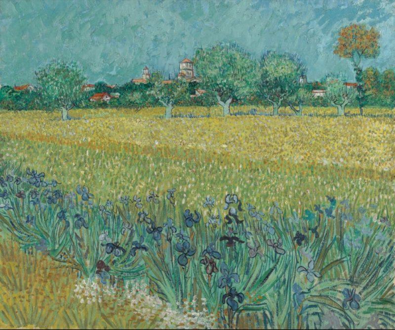 Champ d'iris vers Arles de Van Gogh, Van Gogh au Japon