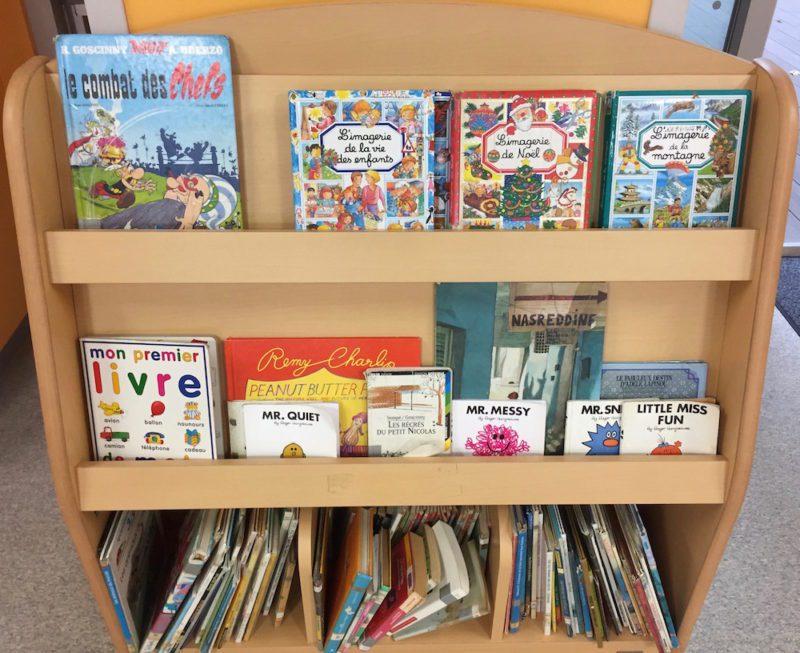 Livre exposé dans l'école maternelle du Lycee Français International de Tokyo, vivre à Tokyo, français à tokyo