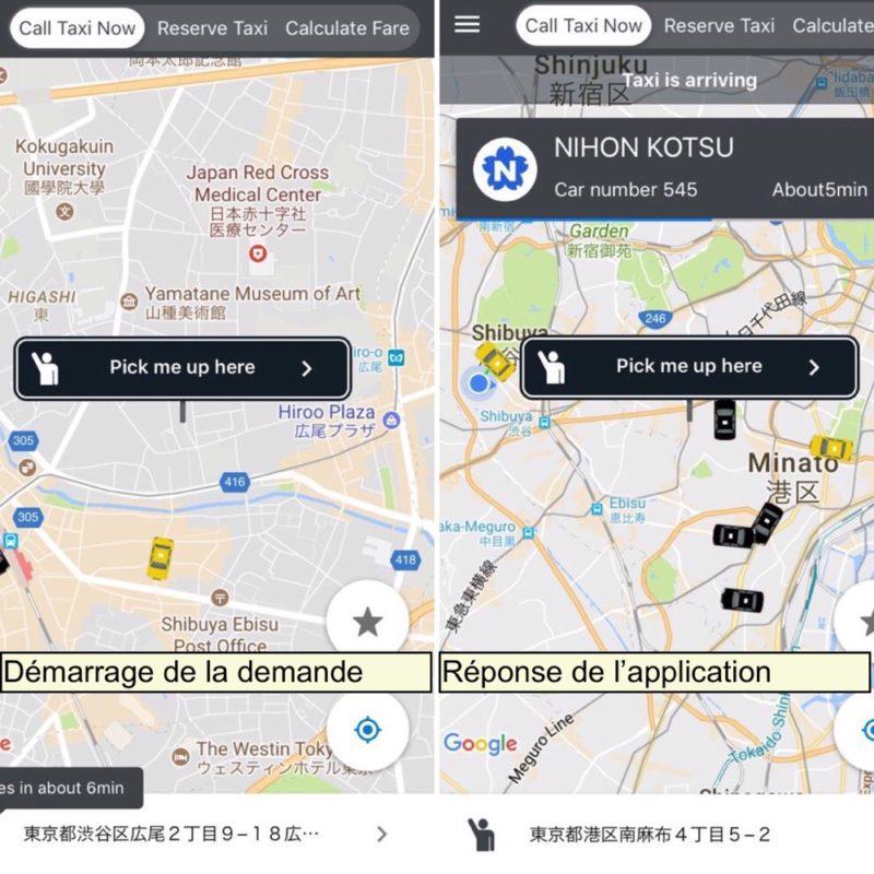 Utilisation de l'application Japan Taxi à Tokyo, Vivre à Tokyo