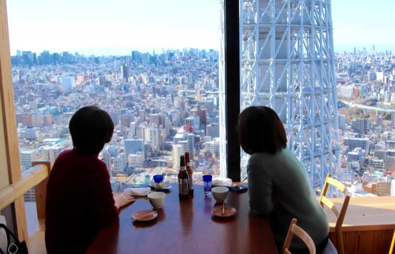 La vue depuis les restaurants du 31F de Solamachi , Visiter Tokyo