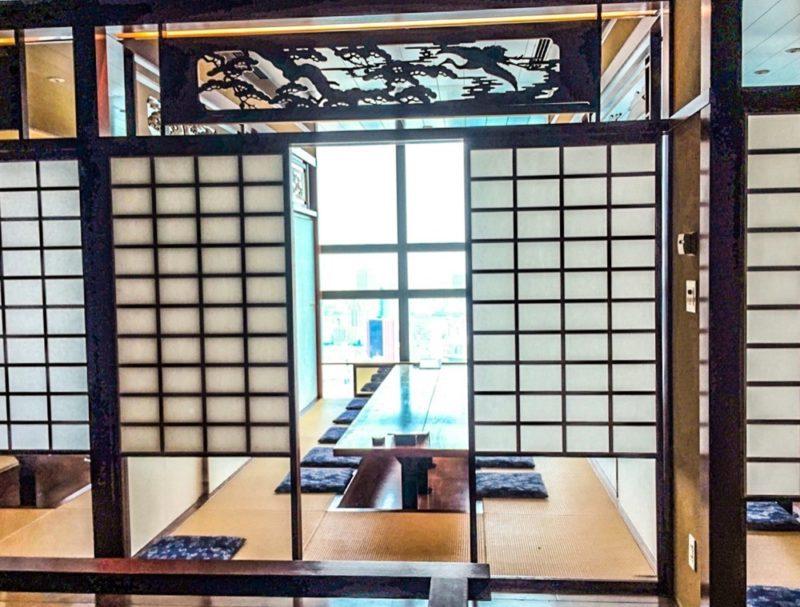 La vue depuis le restaurant EN à Shiodome, visiter Tokyo