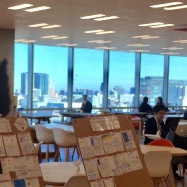Un espace de travail calme et clair au Lodge, expatriation à Tokyo, vivre a tokyo, francais a tokyo