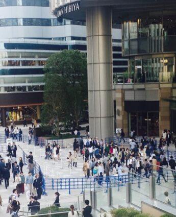 Le Tokyo Midtown Hibyia, expatriation à tokyo, visiter tokyo sous l pluie