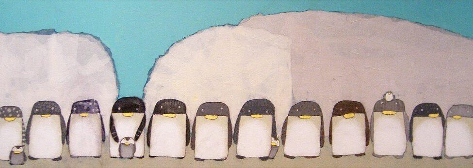 Les pinguins de Kiro melo, expatriation à tokyo, art à tokyo