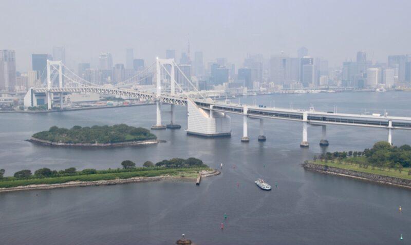 Vue de la baie de Tokyo, vivre a tokyo, expatriation à tokyo, visiter tokyo et le japon