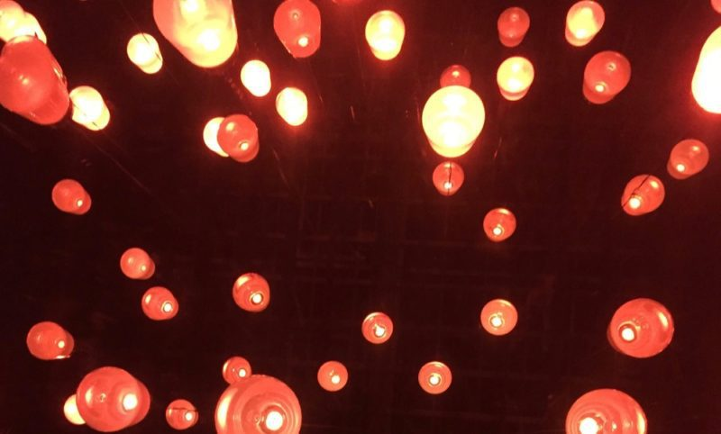 lanternes au teamLab tokyo, vivre a tokyo, francais a tokyo, visiter tokyo