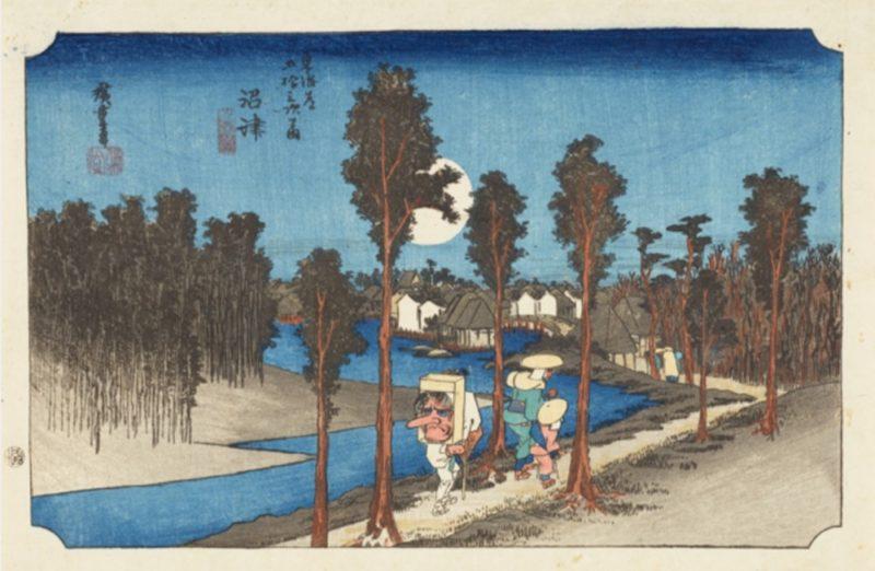 exposition hiroshige, visiter tokyo sous la pluie, musee ota, vivre a tokyo, expatriation a tokyo, francais a tokyo