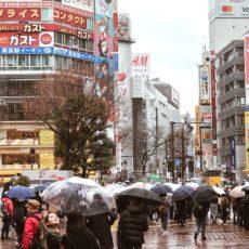 shibuya sous la pluie, visiter tokyo sous la pluie, vivre a tokyo, francais a tokyo