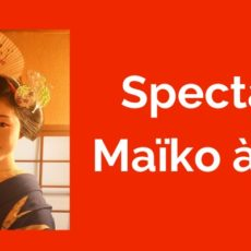kyoto, spectacle de maiko