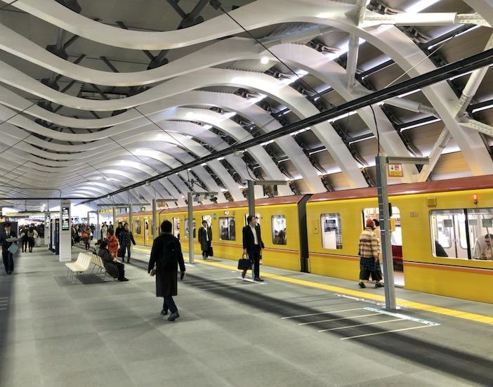 la gare de la ligne Ginza à Shibuya, vivre a tokyo, quartier de Shibuya