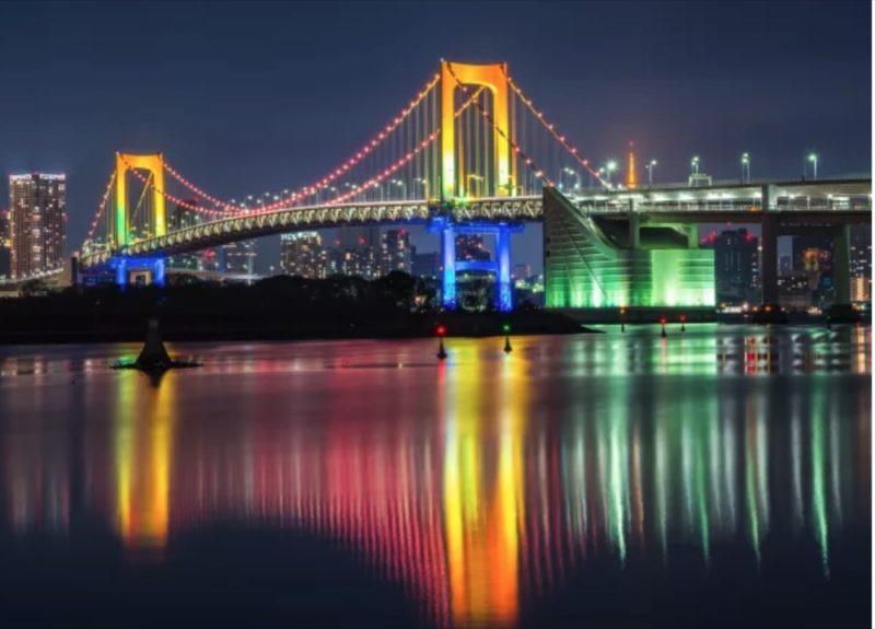 rainbow bridge, odaiba, vivre a tokyo, visiter tokyo