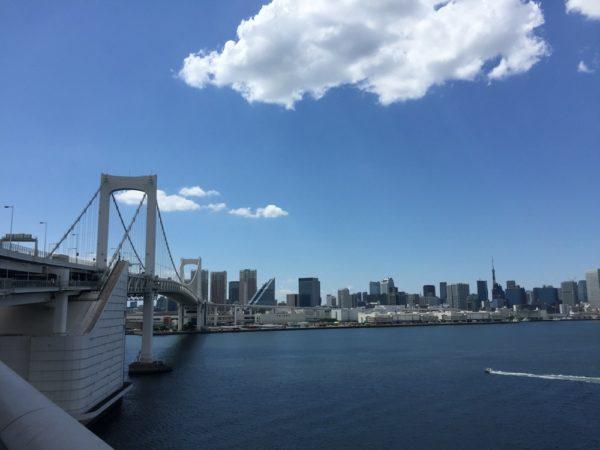 odaiba, rainbow bridge, vivre a tokyo, visiter tokyo