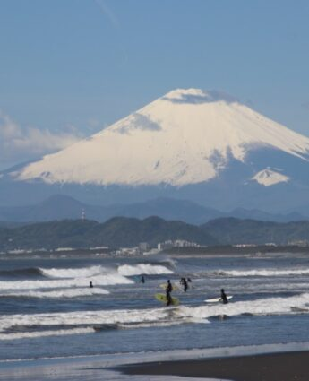 enoshima, vue Mt Fuji, vivre à tokyo