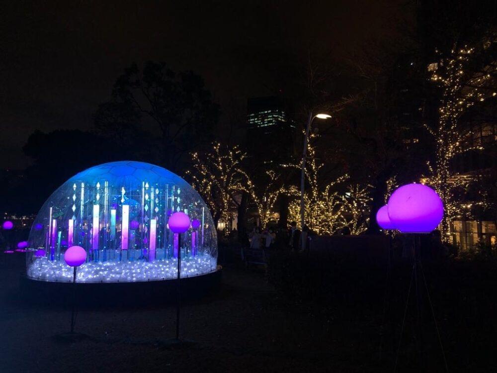 tokyo midtown, illumination, vivre à tokyo