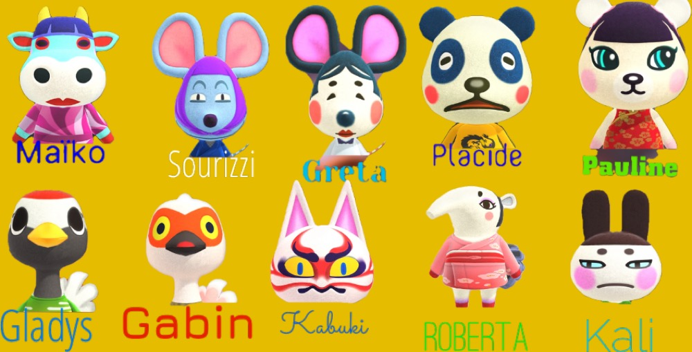 japon, personnage animal crossing