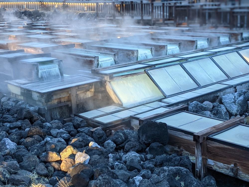 japon, kusatsu onsen, sources chaudes