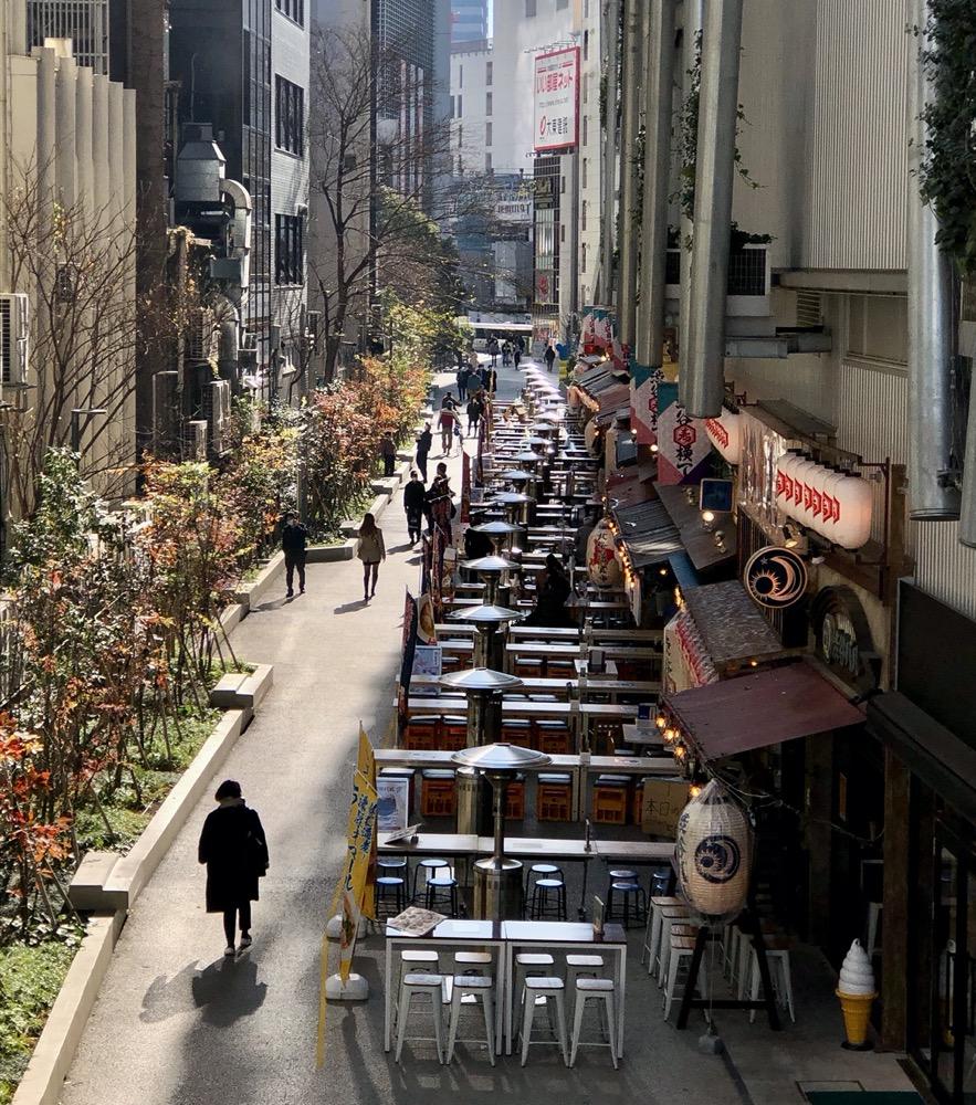 terrasse à tokyo, shibuya