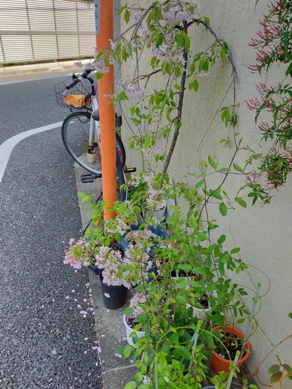 Vélo déposé au coin de la rue devant une maison à Tokyo
