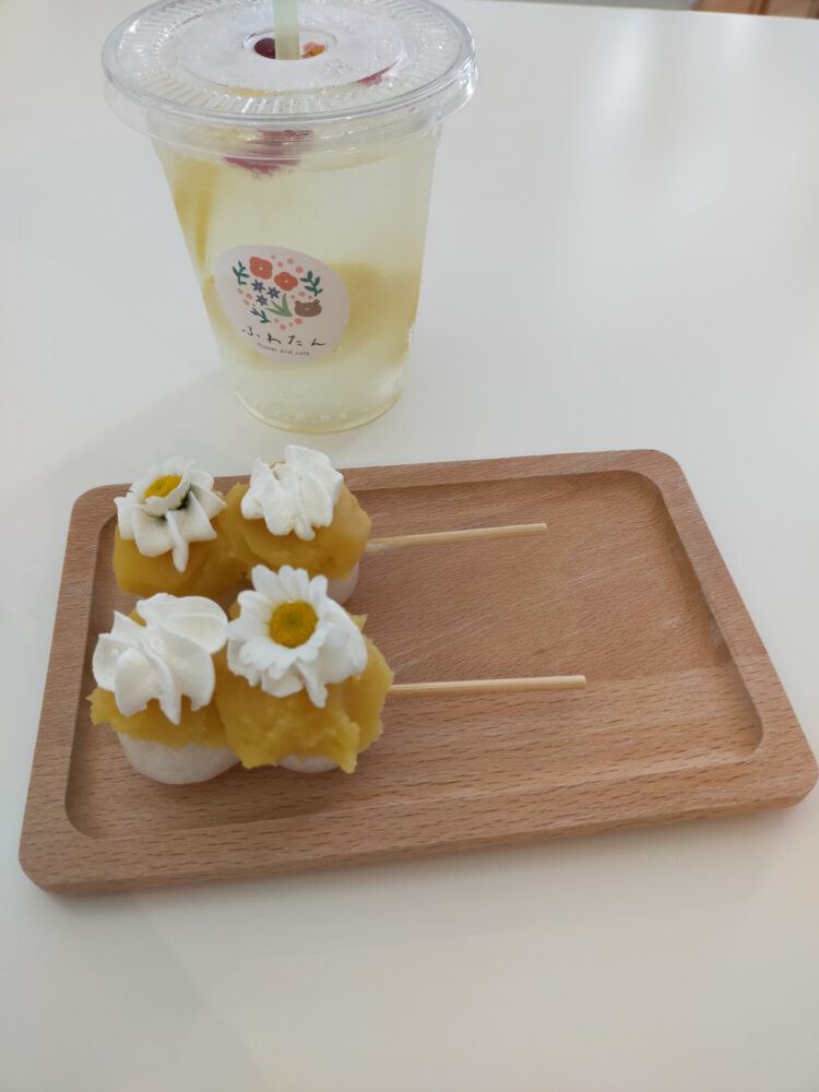 salon de thé Fuwatan, dango et lemon squash