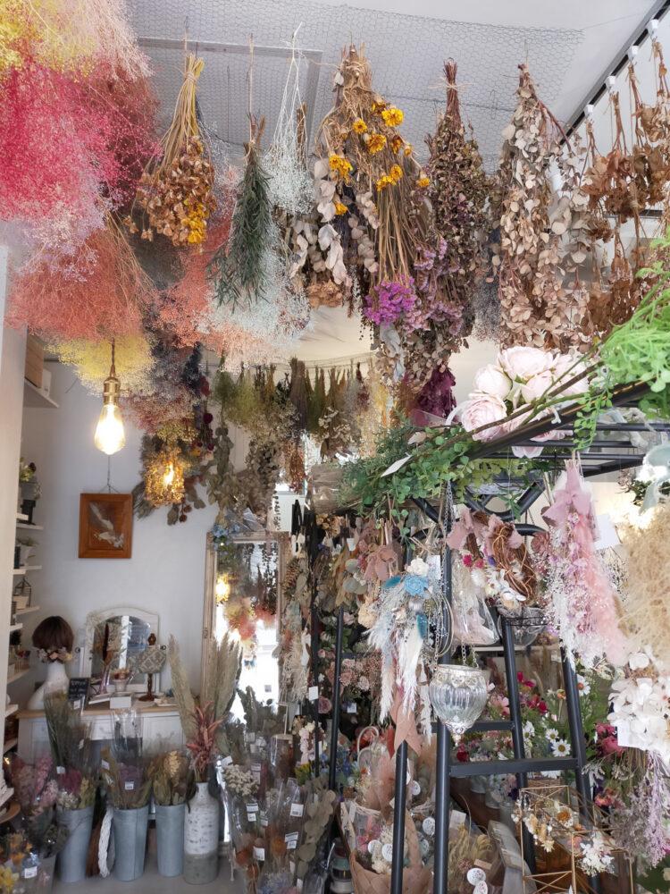 boutique de fleurs séchées et salon de thé Fuwatan, vivre à tokyo